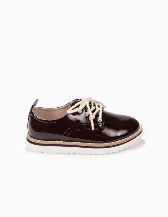 Zapatos de Charol Burdeos