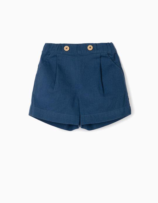 Short para Bebé Niña 'B&S', Azul