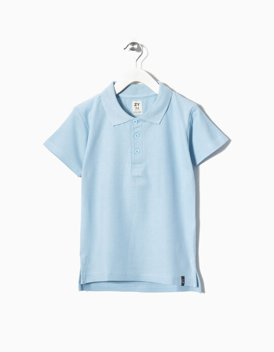 Short-sleeve Polo Shirt for Boys, Light Blue