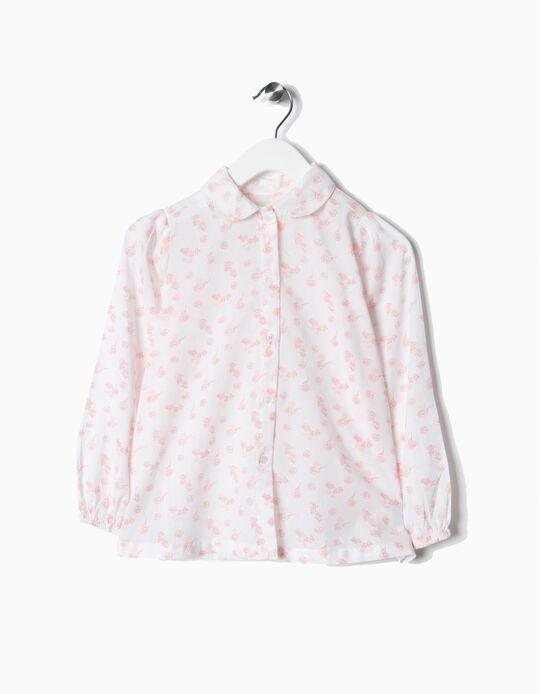 Blusa Rosa Flores