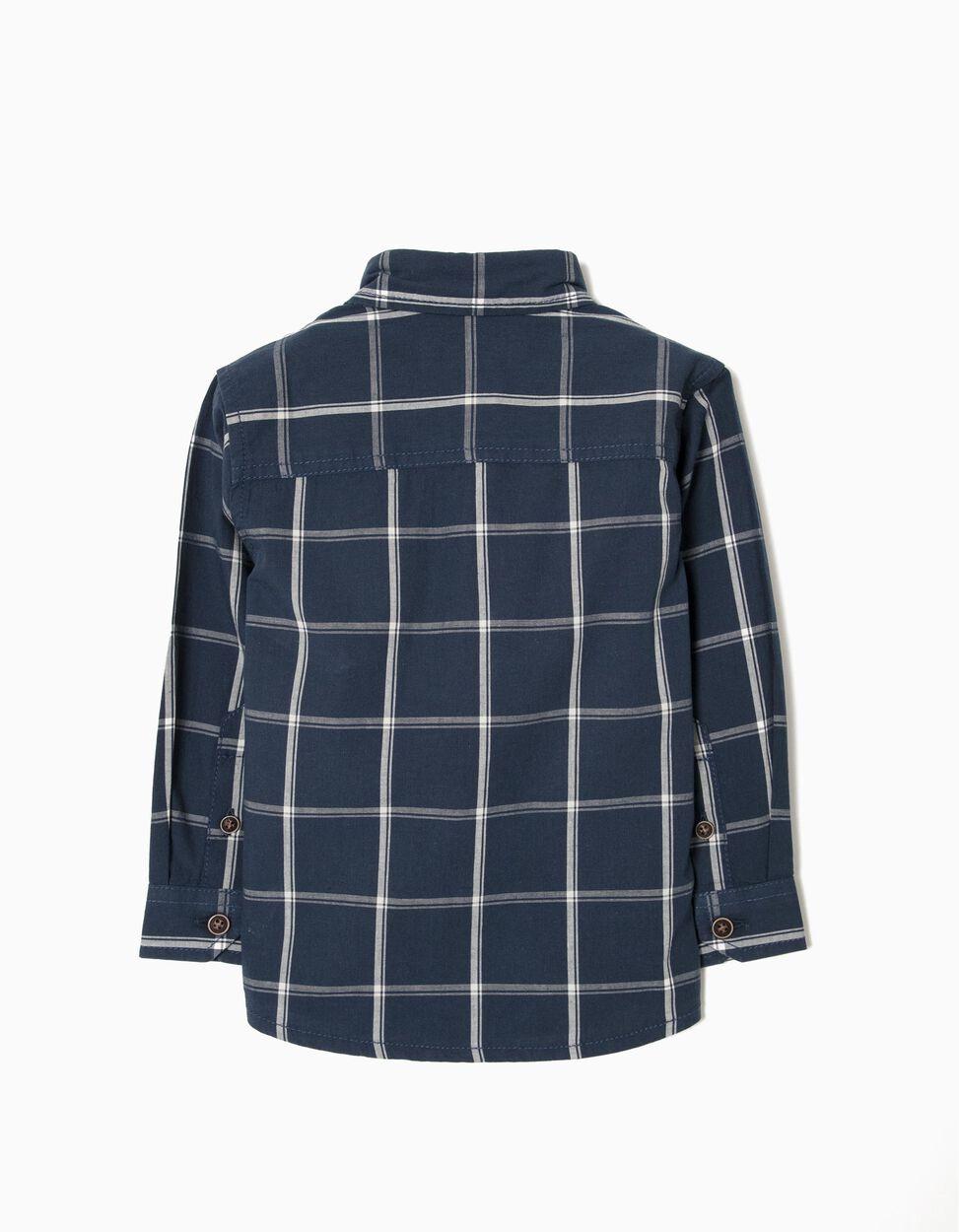 Camisa Azul Escuro Xadrez
