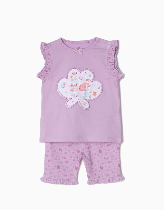 Mermaids' Pyjamas for Baby Girls, Lilac