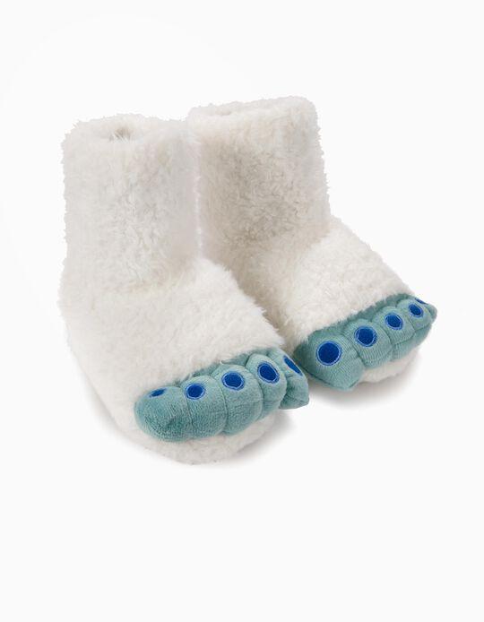 Zapatillas de Casa Fantasía Patas Yeti Blancas