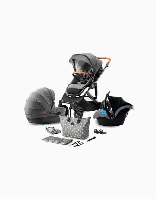 Trio Prime 2020 Travel System, Kinderkraft, Grey