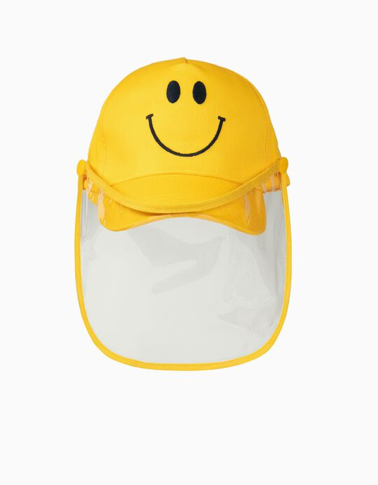 Cap with TPU Visor 'Smile', Yellow