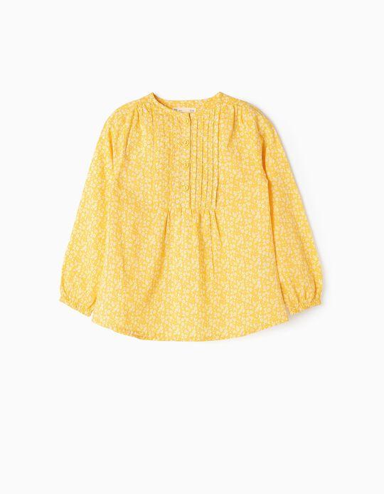 Blusa para Niña de 'Flores', Amarilla