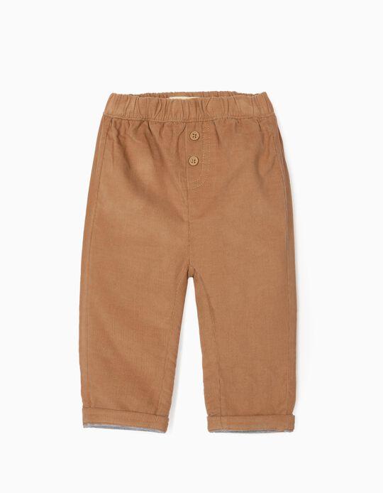 Pantalón de Pana para Recién Nacido, Camel