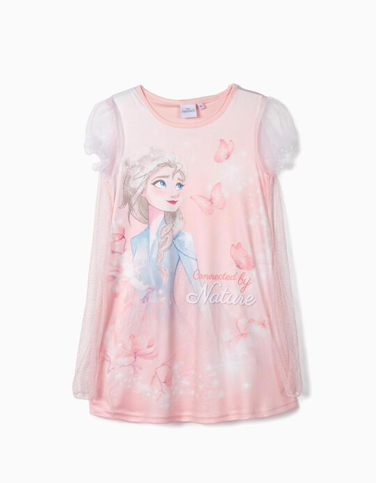 Nightdress with Cape for Girls 'Frozen II', Pink