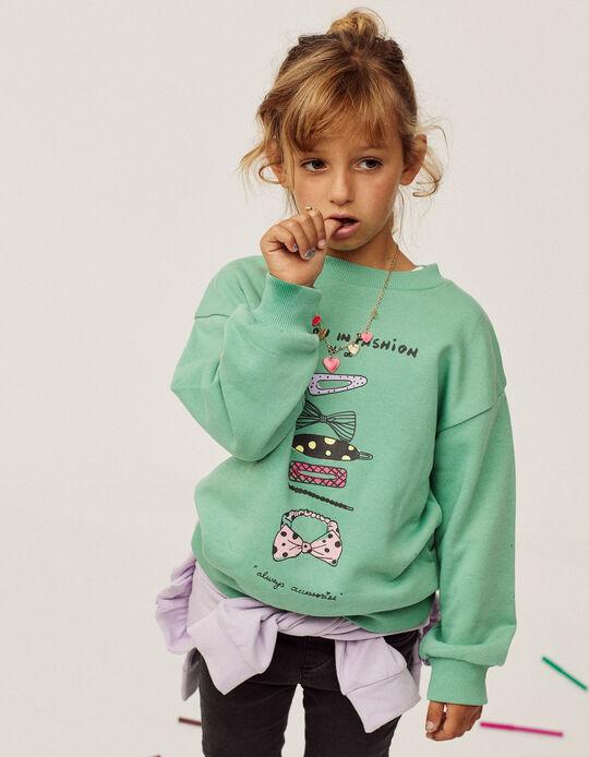 Sudadera para Niña 'Lesson Fashion', Verde Agua