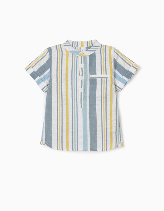 Textured Shirt for Baby Boys, Stripes, Multicoloured