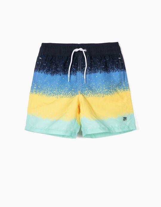 Bañador Short para Niño a Rayas Antirrayos UV 80, Multicolor