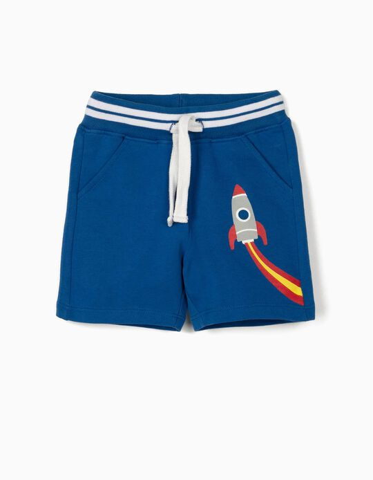 Sports Shorts for Baby Boys, 'Rocket', Blue