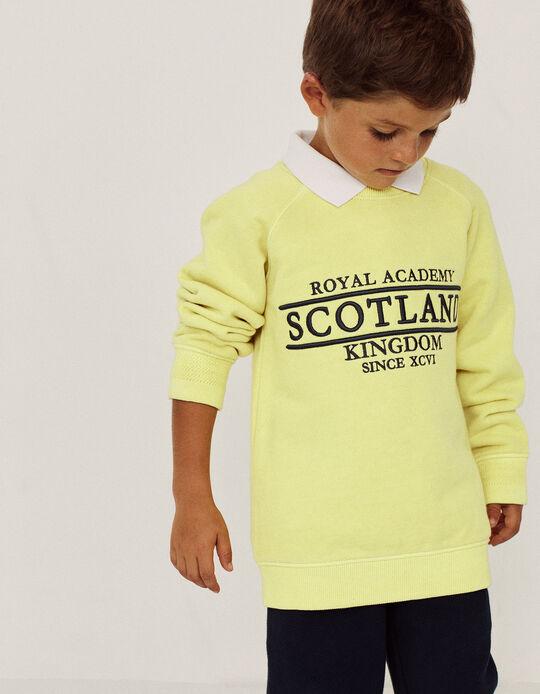 Sweatshirt for Boys, 'Scotland', Yellow