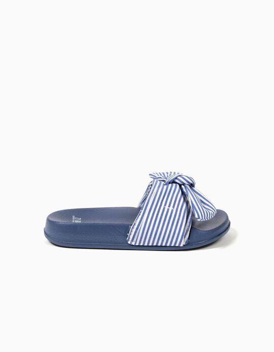 Sandalias Azules a Rayas