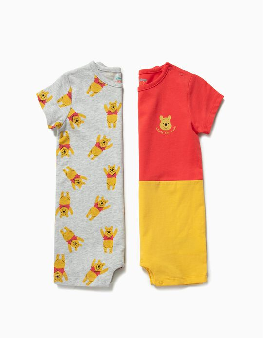 2 Babygrows para Bebé Menino 'Winnie The Pooh', Multicolor