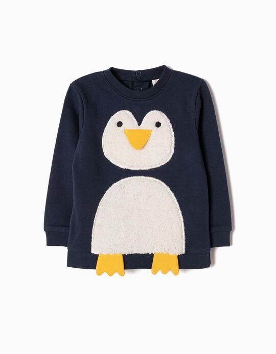 Sudadera Azul Pingüino