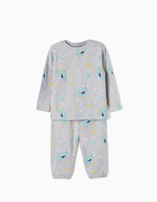 Pijama para Bebé Menino 'Mickey in Space', Cinza
