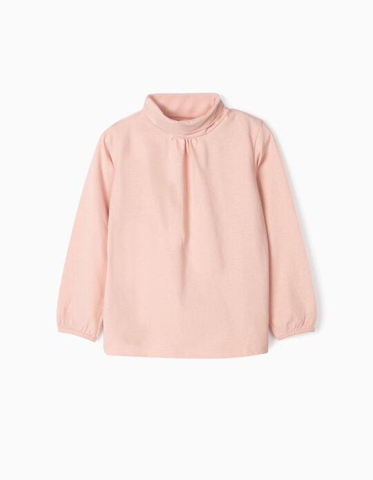 T-shirt Manga Comprida para Menina, Rosa