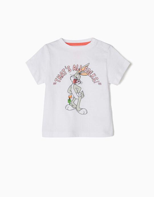 Camiseta para Bebé Niño 'Bugs Bunny', Blanco