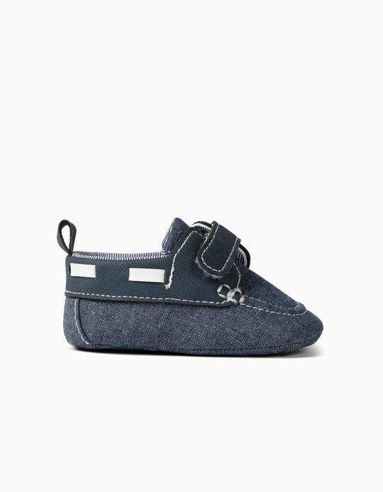 Sapatos Combinados para Recém-Nascido, Azul