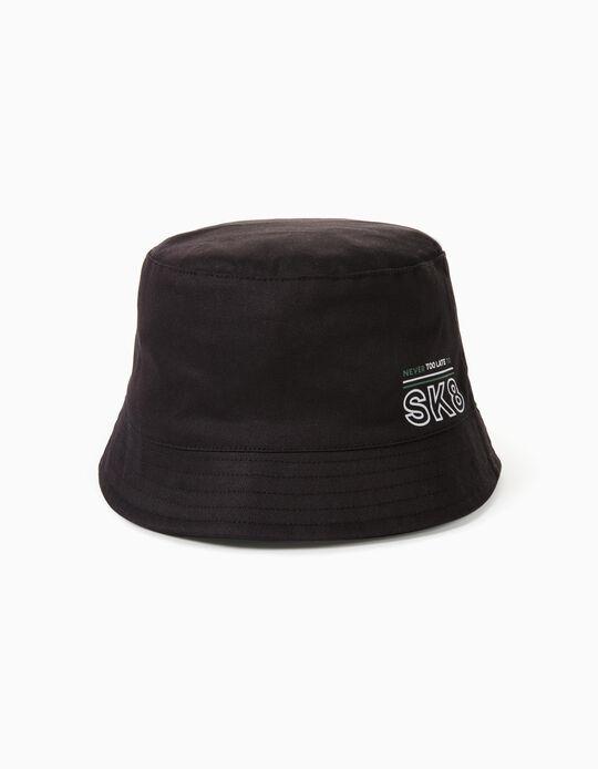 Sombrero para Bebé y Niño 'SK8', Negro