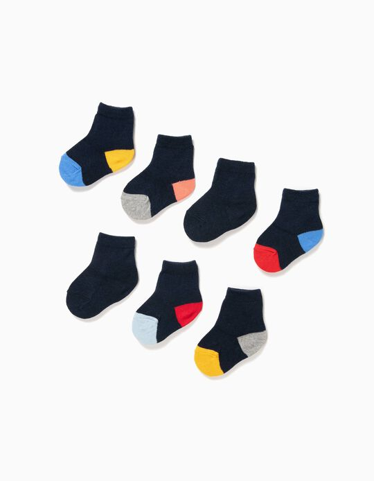 7-Pack Pairs of Socks for Baby Boys, Dark Blue