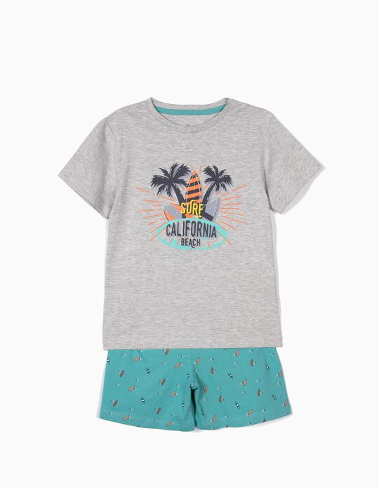 Pijama para Menino 'Surf California Beach', Cinza e Azul