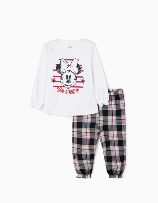Pyjamas for Baby Girls 'Minnie', White/Red/Blue