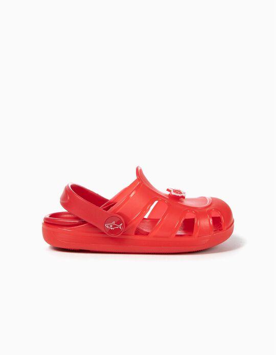 Sandalias para Niño 'Shark', Rojas