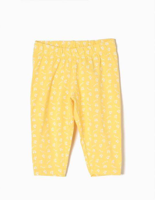 Capri Leggings for Girls 'Sunglasses', Yellow