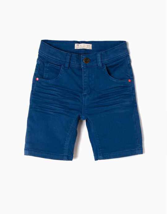 Short de Denim Azul