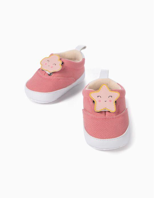 Trainers for Newborn Baby Girls, 'Star', Pink