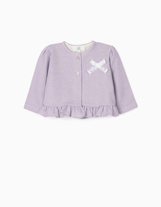 Newborn Cardigan for Baby Girls, Purple