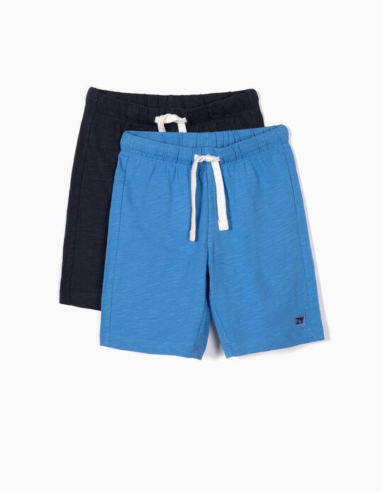 2 Short de Deporte para Niño, Azul