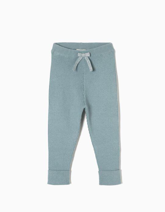 Pantalón de Punto con Lacito Gris