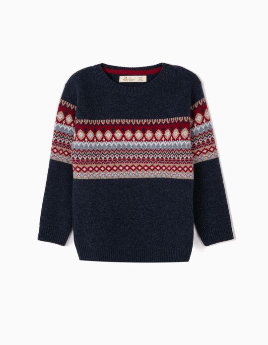 Wool Jumper for Boys 'B&S', Dark Blue