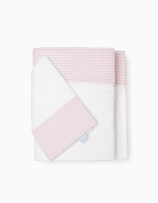 Sheet + Pillow Case 70x90Cm Essential Pink Zy Baby