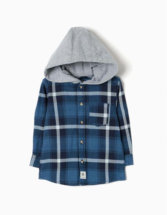 Camisa Capuz Xadrez