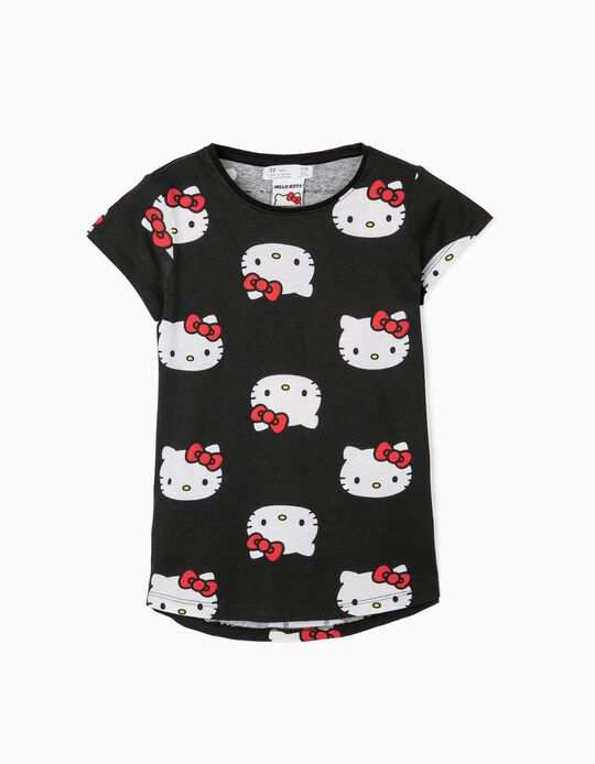 Camiseta para Niña 'Hello Kitty', Negra