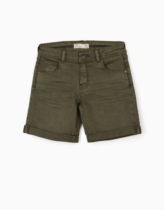 Twill Shorts for Boys, Green