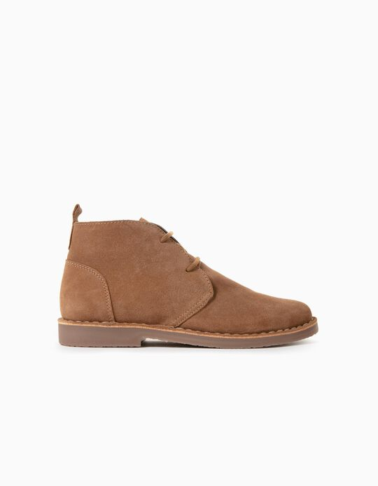 Suede Boots for Boys 'Scotland', Camel
