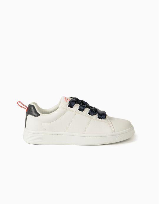 Zapatillas para Niña 'ZY 1996', Blancas/Azul Oscuro