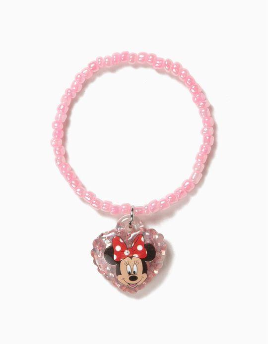 Pulsera de Cuentas para Niña 'Minnie', Rosa