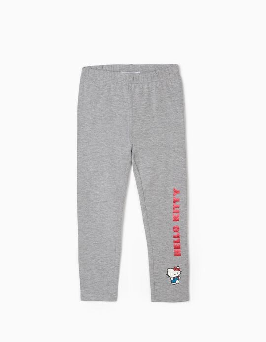 Leggings for Girls, 'Hello Kitty', Grey