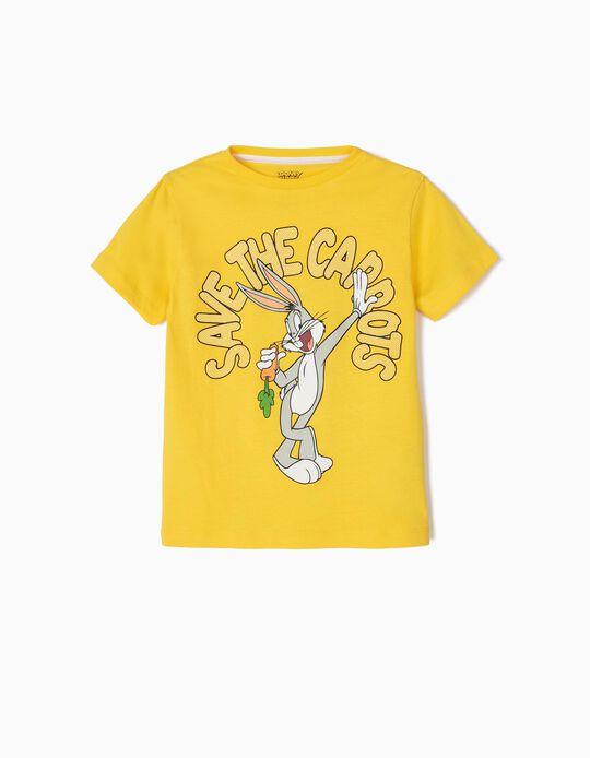 Camiseta para Niño 'Bugs Bunny', Amarilla
