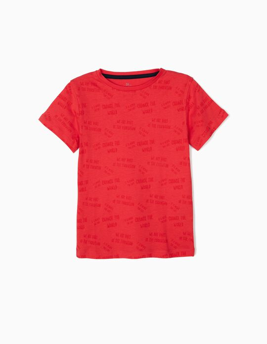 T-Shirt for Boys 'Evolution', Red
