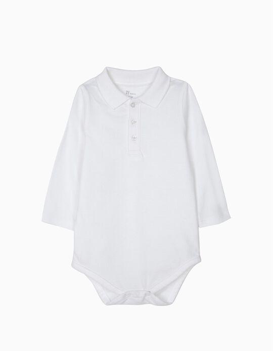 Body Polo para Recém-Nascido, Branco