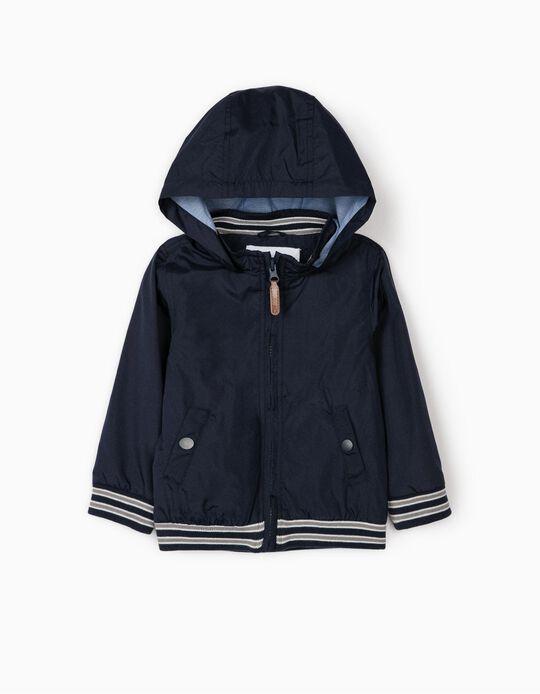 Casaco Corta-Vento para Bebé Menino, Azul Escuro