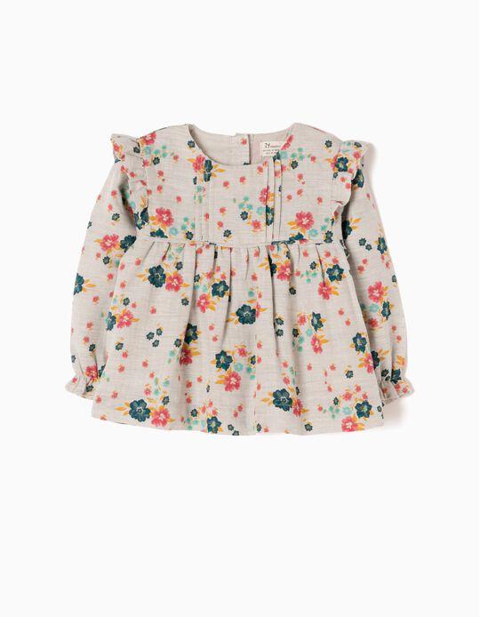 Blusa Bebé Niña Flores y Volantes