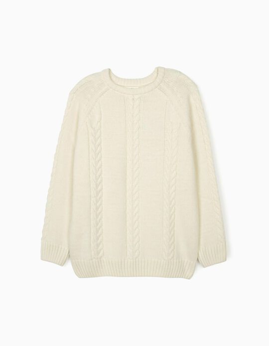 Jumper for Men 'You & Me - ZY x Carolina Patrocínio', White